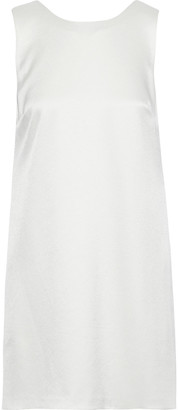 Alice + Olivia Lita Draped Satin Mini Dress