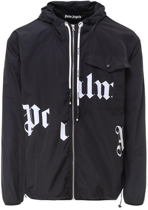 Palm Angels Logo Printed Hooded Jacket