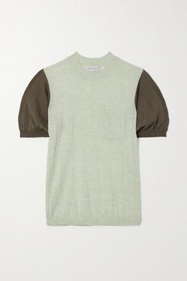 Lee Mathews Two-tone Tencel Sweater
