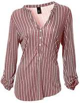 Heine Collarless Striped Shirt