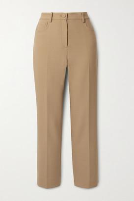 Theory Canton Crepe Straight-leg Pants - Camel