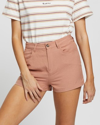 Rusty Women's Pink High-Waisted - Ringleader Shorts - Size One Size, 10 at The Iconic