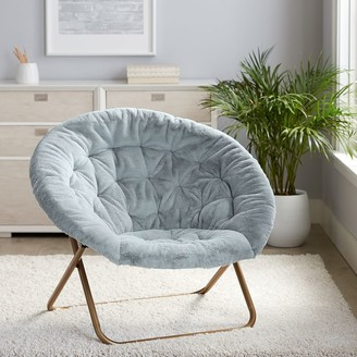 Pottery Barn Teen Recycled Blend Faux-Fur Quarry Hang-A-Round Chair