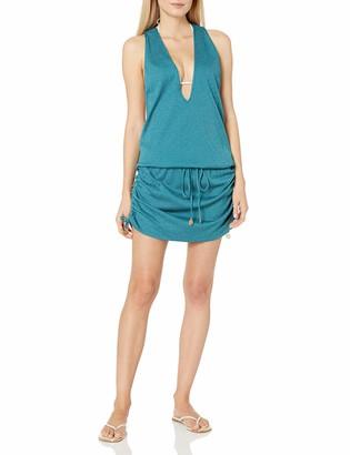 Luli Fama Women's Prints Havana Nights T-Back Mini Dress Cover up Swimwear