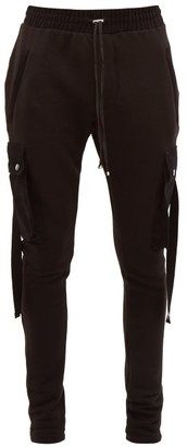 Amiri Cotton-jersey Cargo Track Pants - Mens - Black