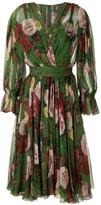 Dolce & Gabbana Floral Print Flared Dress