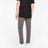 Paul Smith Men's Tapered-Fit Grey Garment-Dyed Pima-Cotton Stretch Chinos
