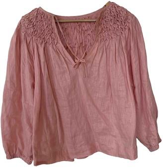 Innika Choo Pink Linen Top for Women