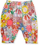 Stella McCartney Drew Floral Poplin Pants, Multicolor, Size 12-24 Months