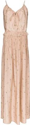 Amiri Floral Print Maxi Dress