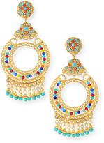 Jose & Maria Barrera Crystal Chandelier Clip-On Earrings