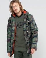 Vans Talvera Camo Jacket In Green Vuohcma