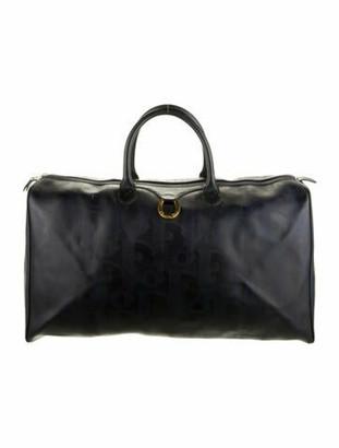 Christian Dior Vintage Diorissimo Duffel Bag Blue