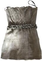 Monique Lhuillier Beige Linen Dress for Women