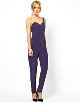 Asos Jumpsuit with One Shoulder and Open Back - Purple