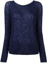 Sun 68 back buttoned fine knit jumper - women - Polyamide/Merino/Alpaca - M
