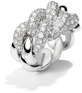 Pomellato Gourmette Ring with Diamonds in 18K White Gold