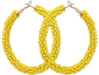 Bijoux Bar Seedbead Hoop Earrings