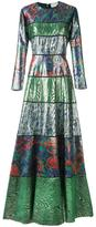 Maison Rabih Kayrouz patterned long length dress - women - Silk/Metallic Fibre - 40