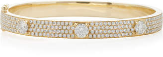 Anita Ko Pave Diamond Bracelet With Three Round Diamonds