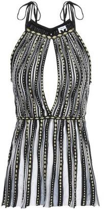 M Missoni Cutout Crochet-knit Peplum Top