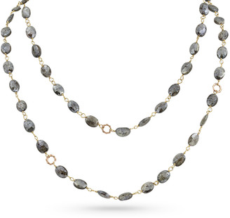 "Dominique Cohen 18k Rose Gold Silverite & Bamboo Link Necklace, 42""L"