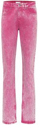 Ganni Mid-rise straight-leg jeans