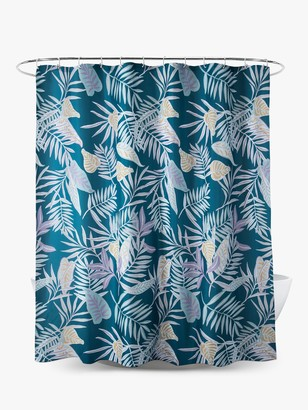 John Lewis & Partners Tropical Leaves Shower Curtain