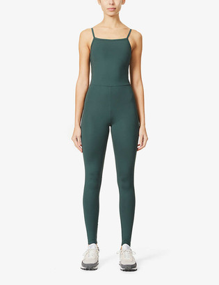 Girlfriend Collective Square-neck stretch-recycled polyester jumpsuit