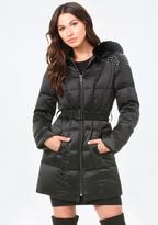 Bebe Stud Detail Puffer Coat