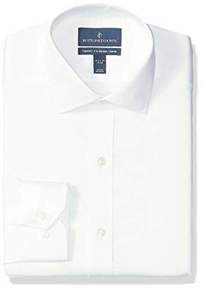 Buttoned Down Men's Tailored Fit Spread-Collar Micro Twill Non-Iron Dress Shirt