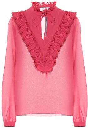 See by Chloe Ruffled georgette blouse