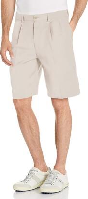 PGA TOUR Men's Double Pleat Expandable Short