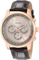 GUESS GUESS? Men's U0380G4 Leather Quartz Watch