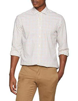 Hackett London Men's Brushed TSHAL CHK Casual Shirt,X-Large