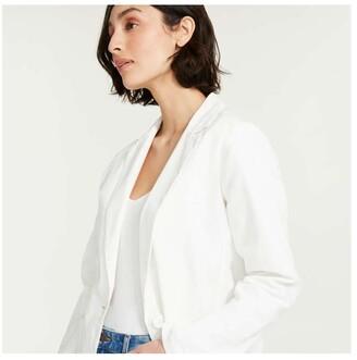 Joe Fresh Women's Notch Collar Blazer, White (Size S)