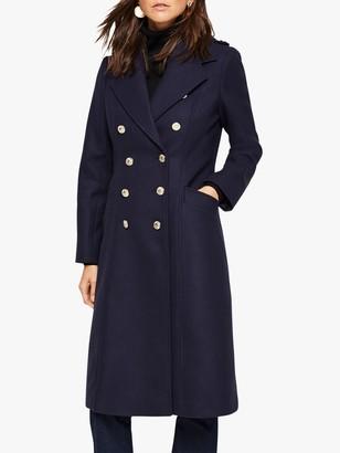 Damsel in a Dress Lexine Wool Blend Coat, Navy