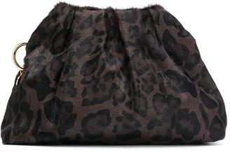 Simonetta Ravizza Furrissima leopard-print clutch