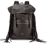 Givenchy Rider Men's Leather Backpack with Fringe, Black