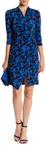 Chetta B Printed Surplice Dress