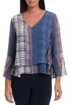 Bali Plaid Bell Sleeve Top