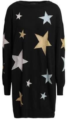 Moschino Metallic Intarsia Wool Mini Dress