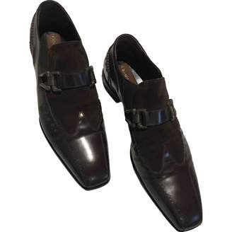 Cesare Paciotti Brown Leather Flats