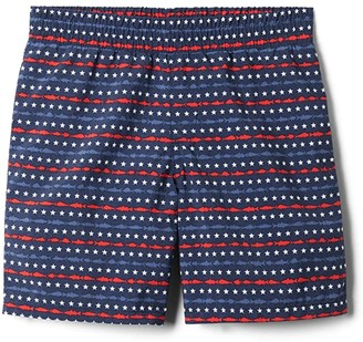 Columbia Kids Super Backcast Shorts (Little Kids/Big Kids) (Collegiate Navy Merica Fish Stripe) Boy's Shorts