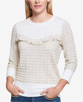 Tommy Hilfiger Ruffled Metallic Sweater, Created for Macy's