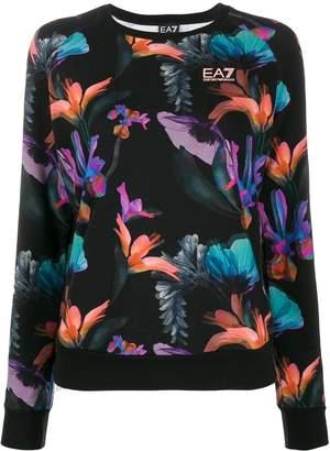 Emporio Armani Ea7 floral print sweatshirt