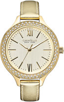 JCPenney CARAVELLE, NEW YORK Caravelle New York Womens Gold-Tone Dial & Leather Strap Watch 44L131