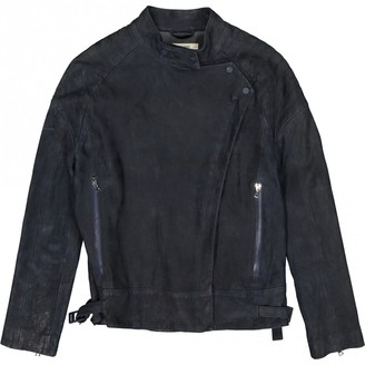 J Brand Blue Suede Leather jackets