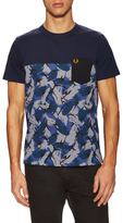 Fred Perry Camo Pique Panel T-Shirt