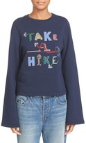 Opening Ceremony 'Take a Hike' Embroidered Cotton Sweatshirt